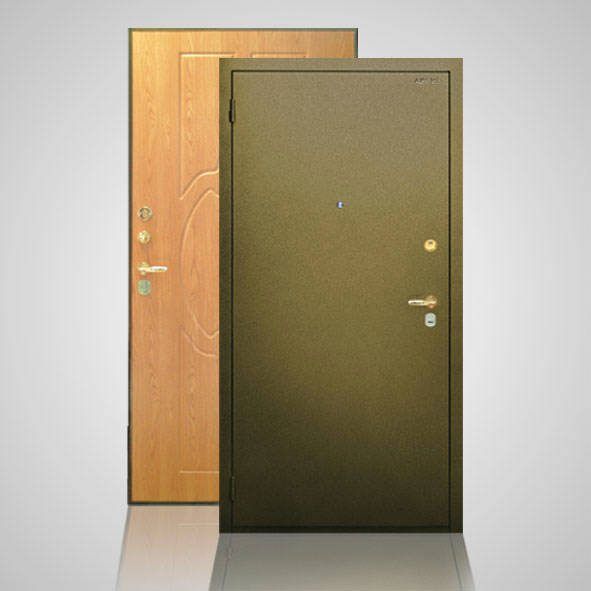 дверь металлическая цвет бронза