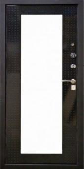 Двери HI-TEK ЭКО Чёрный металлик вид сзади