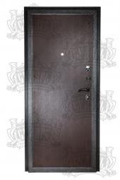 Двери МД-01 серебро вид сзади