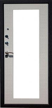 Двери HI-TEK люкс зеркало Белый шелк вид сзади