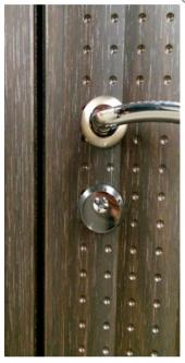 Двери HI-TEK люкс зеркало Белый шелк