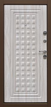 Двери Контур Беленый дуб вид сзади